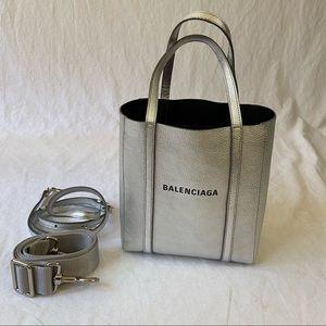 Balenciaga XXS Everyday tote silver leather +strap